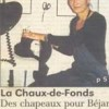 Ariane Delabays, article de presse. La Chaux-de-fonds