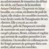 Ariane Delabays, article de presse par Fabienne Bachelard