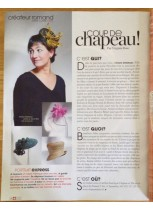 Ariane Delabays - Modiste - Lausanne - Marie Claire - Supplément Edition Suisse - Mai 2014